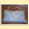 Handmade cotton crochet handbag.