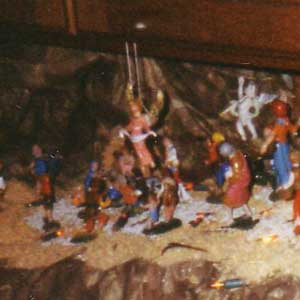 Christmas crib and Nativity scene pictures of the year 1998
