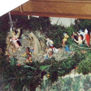 Christmas crib and Nativity scene pictures of the year 1999