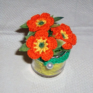 Cotton crochet daisies.